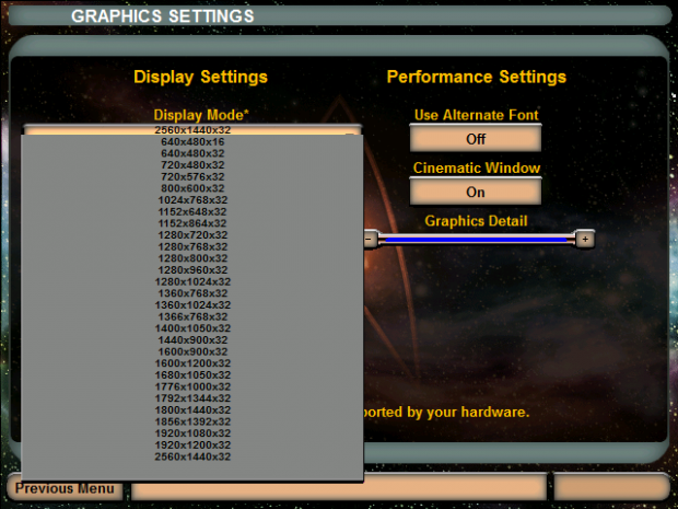 Widescreen Resolutions patch