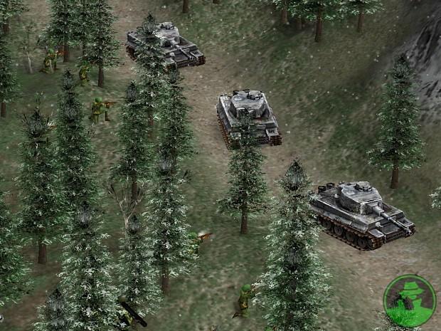 US infantry ambushing three tiger tanks
