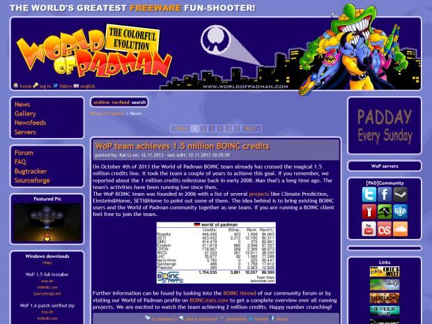 WoP old website