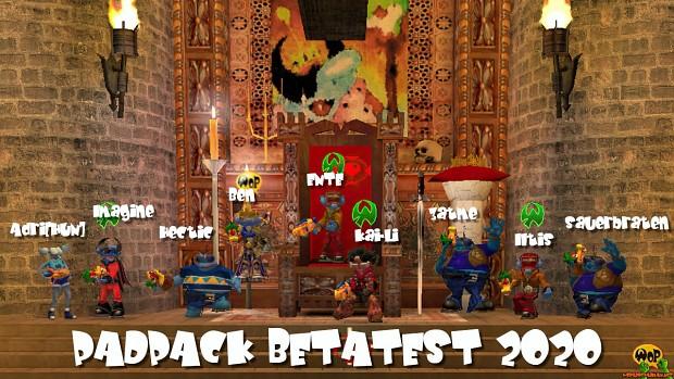 PadPack beta test 2020