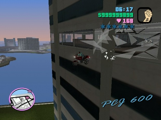 A Stunt Jumping out window