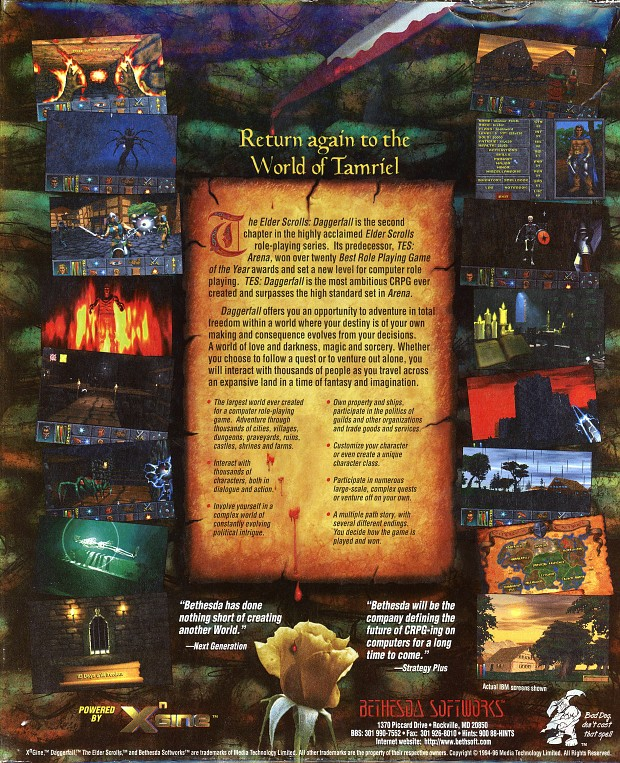 Daggerfall Art Back
