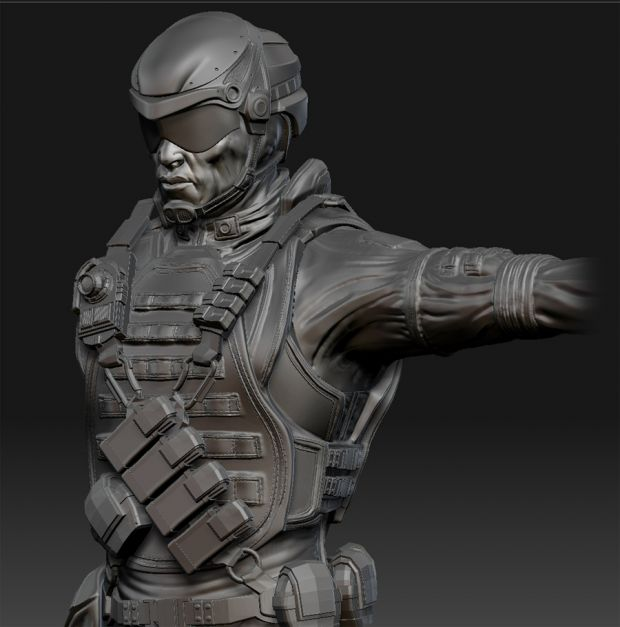 High-poly Merc Torso