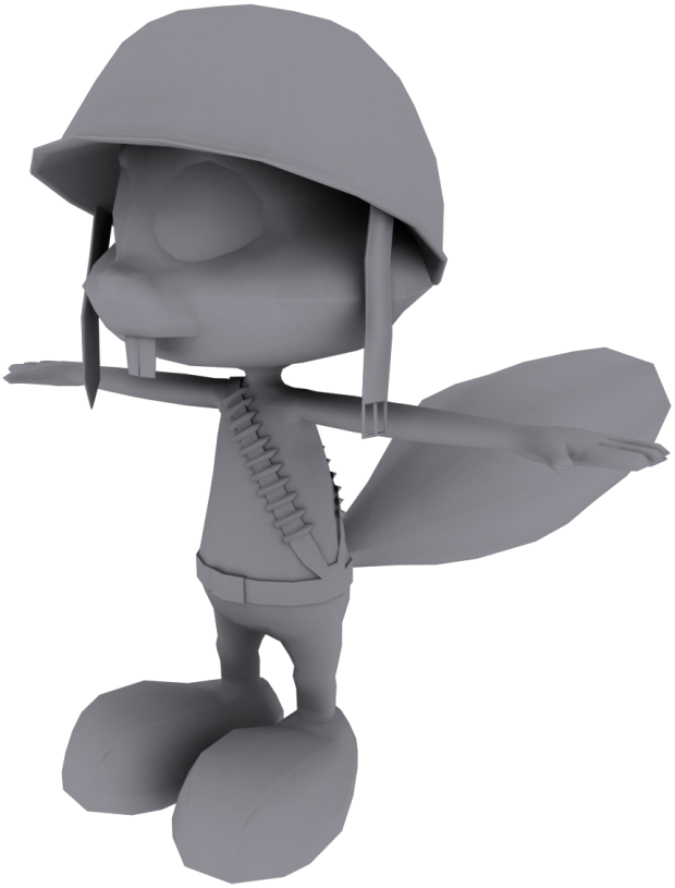 Finished Squirrel Model