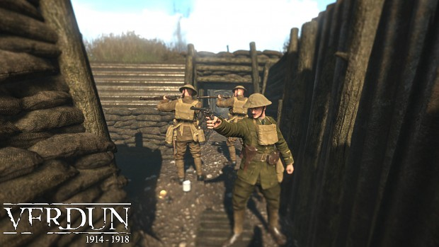 """British """"Tommy"""" Squad in a Captured German Trench,Somme 1916"""