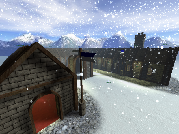 Snowy Courtyard by Kid Matthew