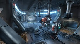 Descent Station - Repair Room Concept Art