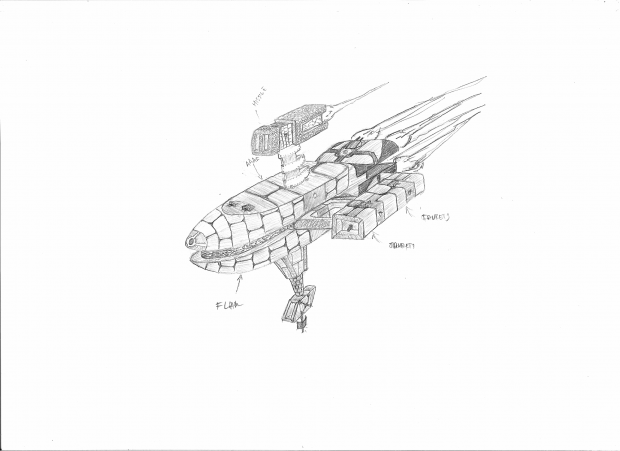 Earth Defence's concept sketch