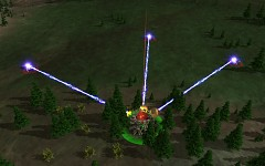 New beamlaser effect on the Amphibious Artillery