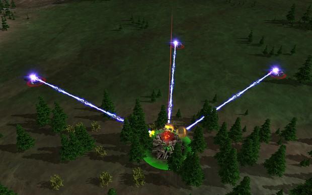 New beamlaser effect on the Amphibious Artillery