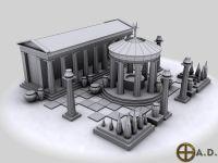 Greek Civic Centre Render
