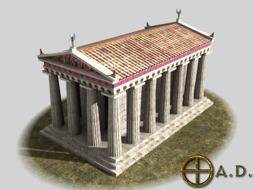 Greek Temple A Render
