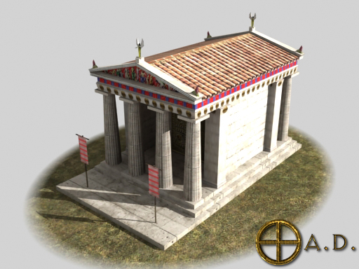 Greek Temple B Render