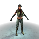 Merc Female (Front Render)