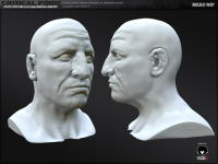 MERC Male Head (Highpoly wip)