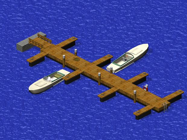 Harbor Terrain: Boat docks WIP 2