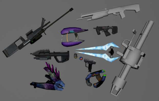 Guns rendered.