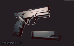 CMC - Pistol - Low Poly Untextured - Ingame