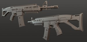 CMC - O37 Assault Rifle - High Poly