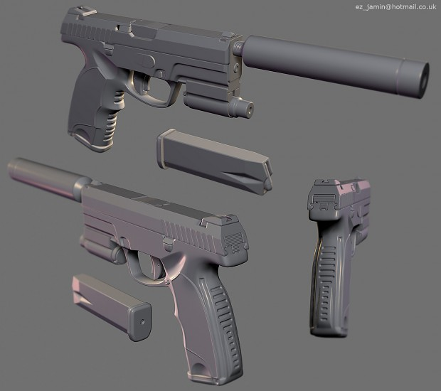 CMC - Pistol - High Poly