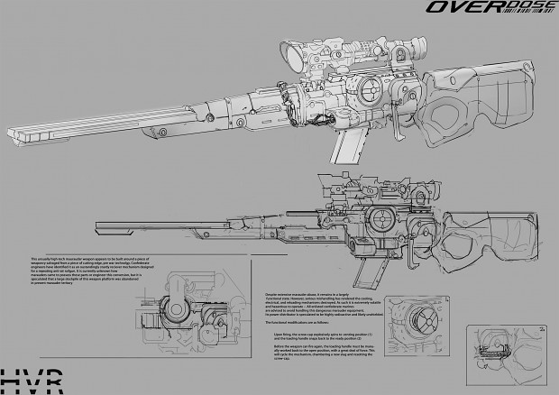 Marauder High Velocity Rifle Concept Art