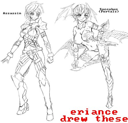 Assassin and Succubus class concept