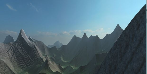 High Resolution Terrain Texturing