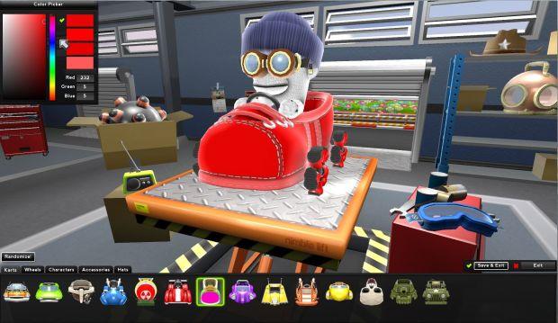 Zero Gear Kart Customization Red Shoe