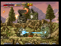 Screenshots of the original Metal Slug