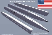 Ground Based Interceptor Missile Render