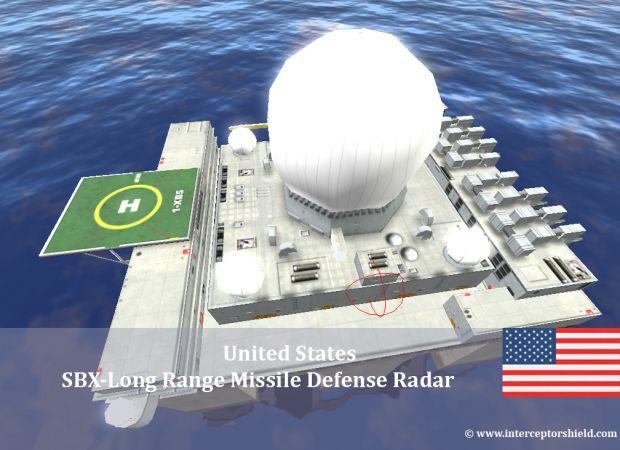 Sea Based X Band Radar Platform Image Interceptor Shield