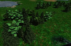 New skies, trees and water renderer improvements
