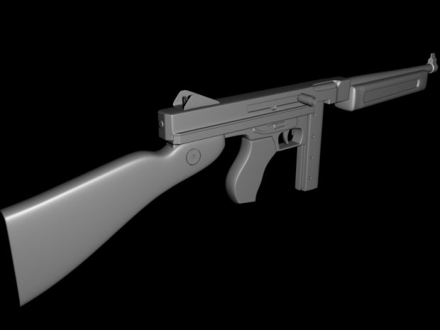 M1A1 Thompson High Poly