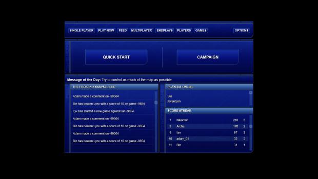 New menu concept