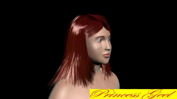 Princess Geel (Progress Update 9) -hair & face-