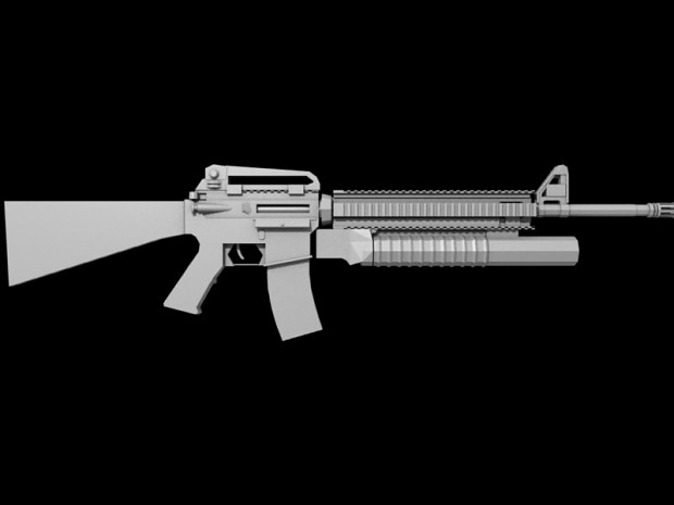 M16A4 with M203 Grenade Launcher -Updated- image - Modern ... M16a4 M203