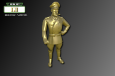 Army Men III Characters - Tan General Plastro