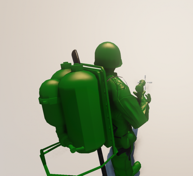 Original Flamethrower & Canister Pack In-Game
