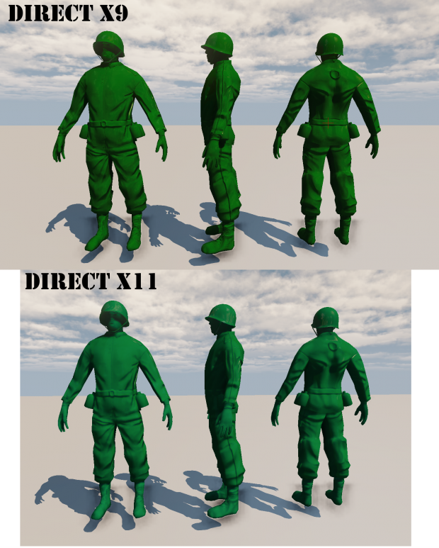 Topic : ARMY MEN III Soldier_Render_Comparision