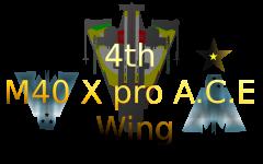 4th M40 X pro A.C.E Wing logo