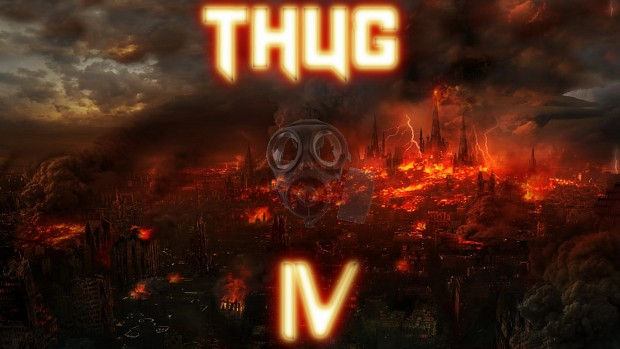 T IV Gas Mask/Burning City Poster