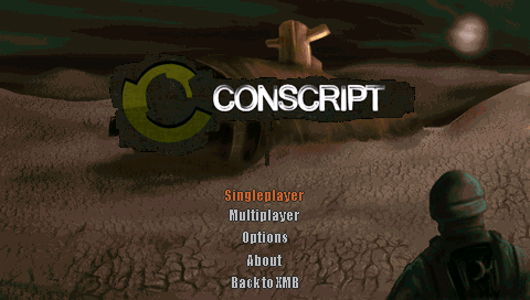 Psp main menu with random backgrounds