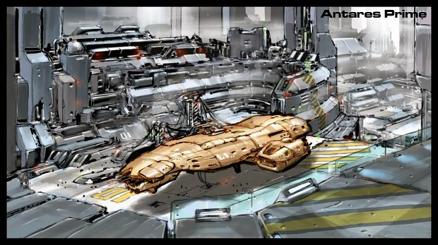 Landing pad at Antares-Prime