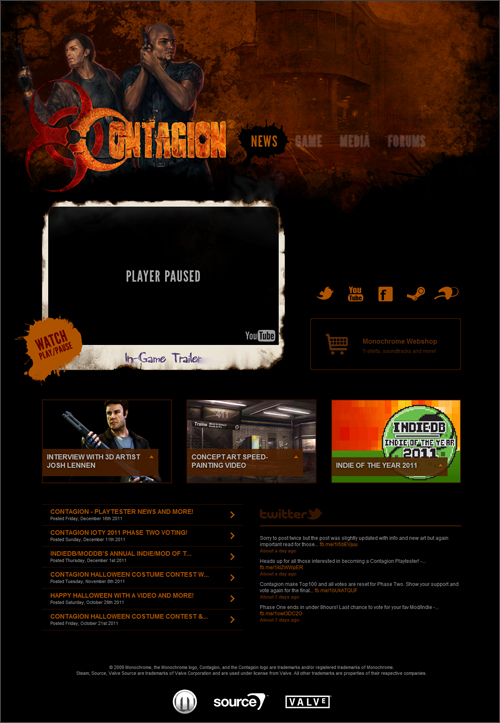 Contagion - Site Redesign
