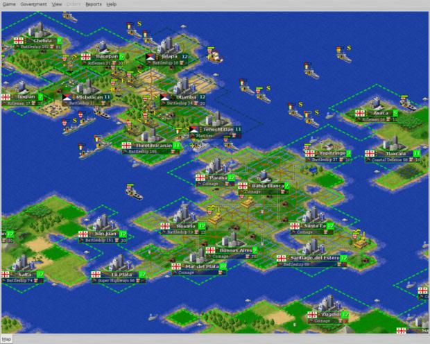 Freeciv 2.1.0-beta1 Fullscreen