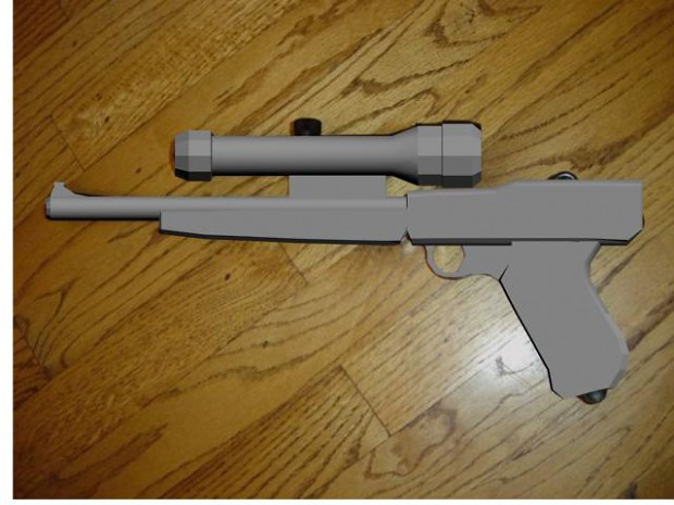 heres my final luger modeled by joealtair