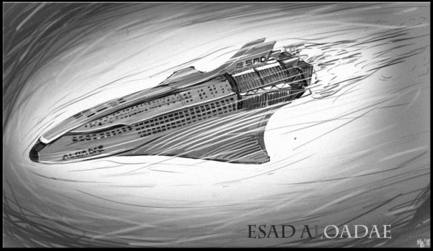 Concept art by SinKing, The ESAD Aloadae