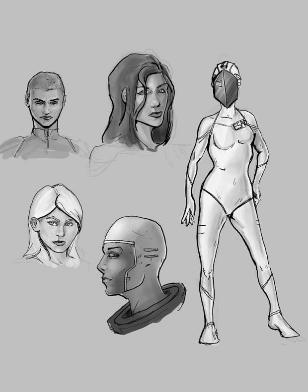 Concept by Luke Brubaker, Female Pilot