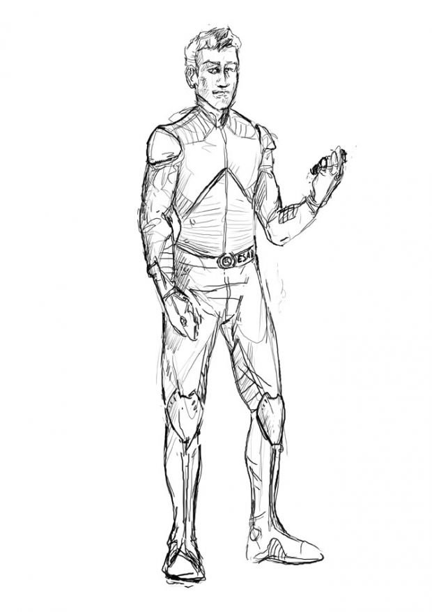 Concept by Luke Brubaker, Pilot Spacesuit Concept