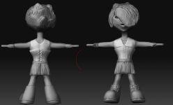 Goth Girl 3d Model (WIP2)